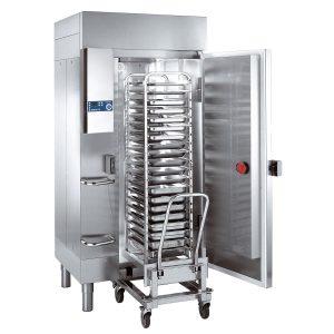 Blast chiller and shock freezer for oven racks