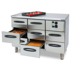Heated drawers
