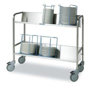 Plate cassette trolleys